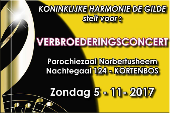November 2017 – Verbroederingsconcert